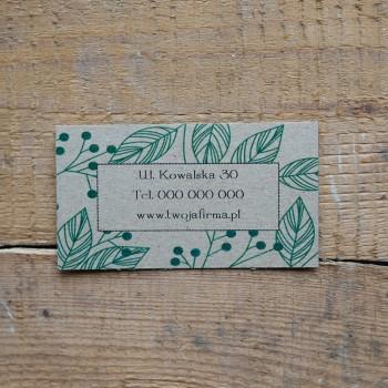 Wizytówka ekologiczna 2 -...