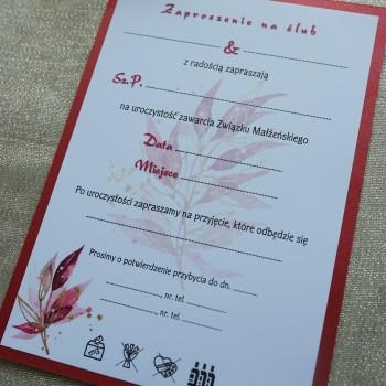 Zaproszenie na ślub 15