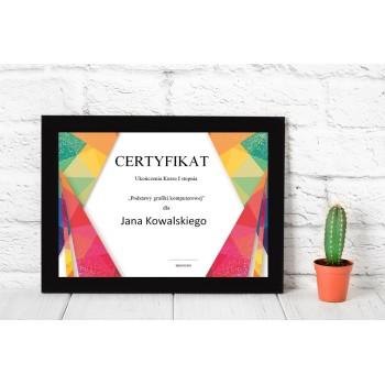 Dyplom - Certyfikat 2