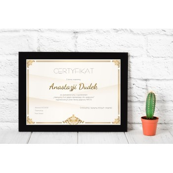 Dyplom - Certyfikat 6