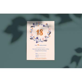 Zaproszenie na 18stkę - 18