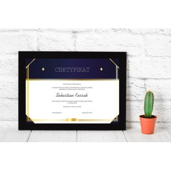 Dyplom - Certyfikat 9