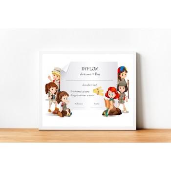 Dyplom zakończenia szkoły 2